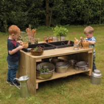 Outdoor Wooden Group Discovery Table